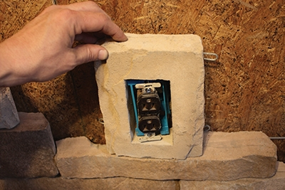 Outlet stones and other accessories are available for installation.