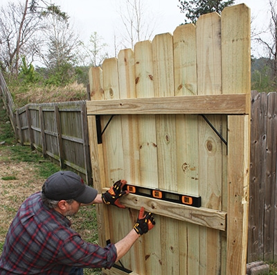 Sagging fence gate extreme how to for Diy fence gate designs
