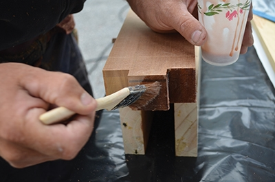 Use enough epoxy that a small amount will squeeze out when joined.