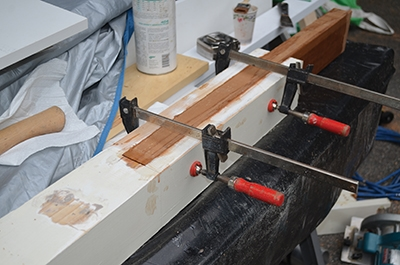 Clamp the joint securely along its length.