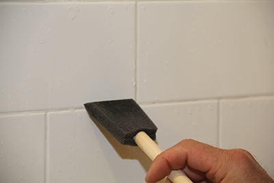 Apply Sealer to grout lines