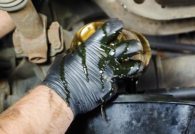 oil filter is full of oil