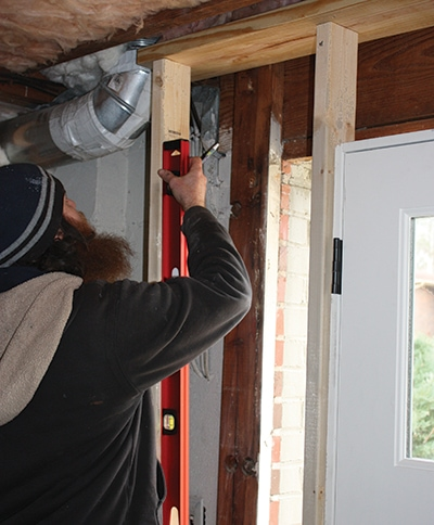 Make sure the studs are installed square, plumb and true and that the boards are straight and not bowed.