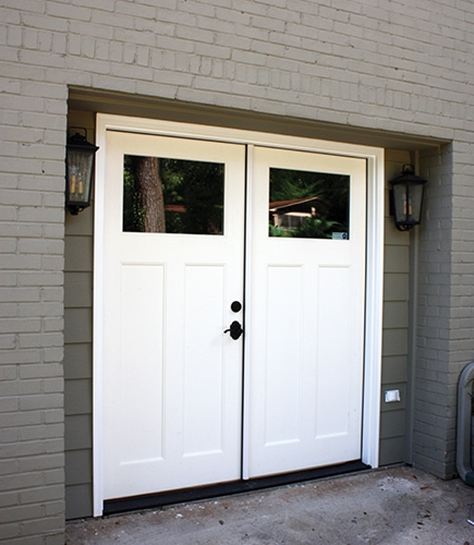 Double door garage conversion extreme how to for Two door garage