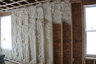 Exterior Walls Cavities Were Filled With Spray Foam Insulation.