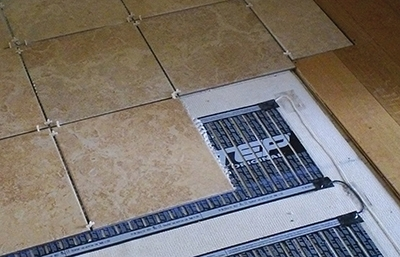 Radiant heat systems can warm cold tile floors. Photo courtesy STEP Warmfloor.