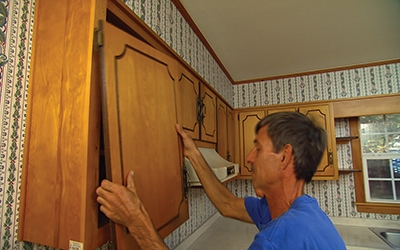 If you have several doors of different sizes, label the doors to make them easy to identify for replacement.