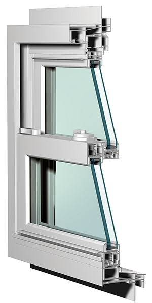 Gas-filled, multi-paned windows protect the home from thermal transfer.