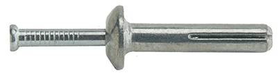 To use a hammer-drive anchor, predrill a pilot hole and insert the sleeve. Hammer the nail head to expand the anchor inside the wall.