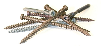 GRK Fasteners' Kameleon Composite Deck Screws blend with the most popular decking colors.