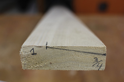Transfer the measurements to your trim stock.