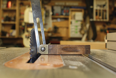 Set your table saw blade to a matching angle.