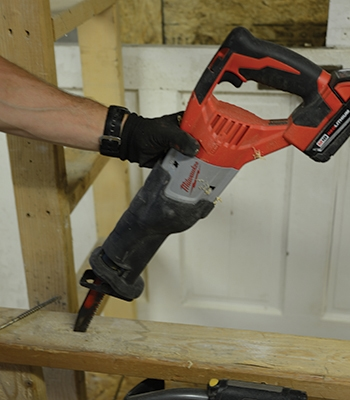 Use your recip saw to create a space for your recip saw. All it takes is a simple plunge out.