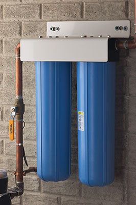"""There's no single """"black box"""" water treatment solution because water can be different mile-by-mile and day-by-day. For suspended solids (like chlorine) you need a unit like the Pentair Pentek BBFS."""