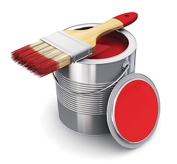 To load a brush, dip it only 1 to 2 inches into the paint. Gently tap the brush on the inside of the container, first one side and then the other.