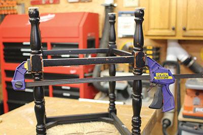 Clamp the repair overnight.