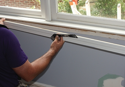 First step is to remove any trim pieces that might interfere with the removal of the window.