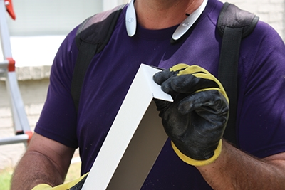 Some professionals form aluminum casing to wrap the window opening as an extra measure of weather-protection.