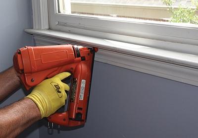 Reinstall interior trim, including casing and window stools.
