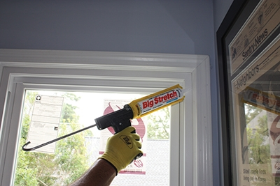 Caulk all seams inside and outside the window with a high-quality, flexible sealant.