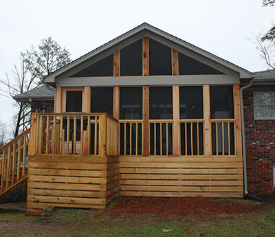 Here's the completed porch roof addition.