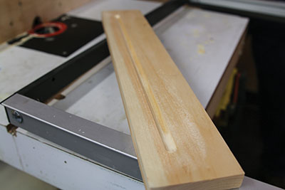 Use a thumbnail router bit to cut the slot.