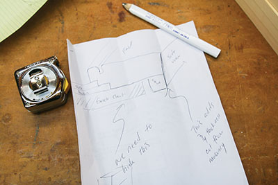 Sketch the dimensions of your frame design to use as a reference.