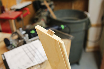 Insert the domino in the slot to bridge the joint.
