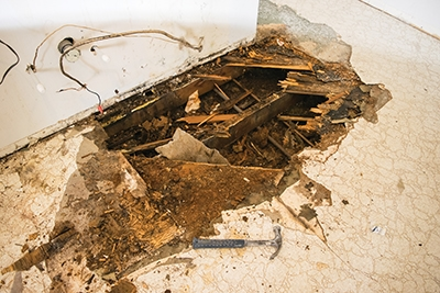 rotten bathroom floor repairing a severely rotted subfloor how to 14251