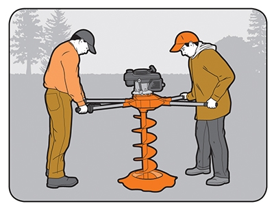 Rent a two-man auger to speed up the job of digging post holes.