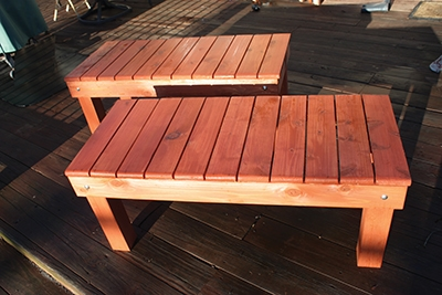 Here are the two finished benches.