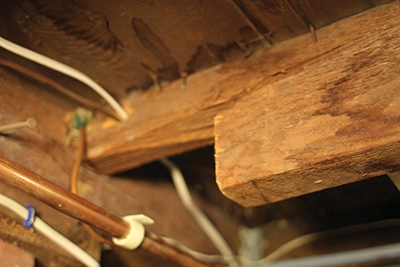 Improper notching can weaken a floor joist.