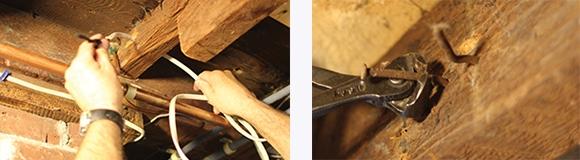 strengthen floor joists from beneath