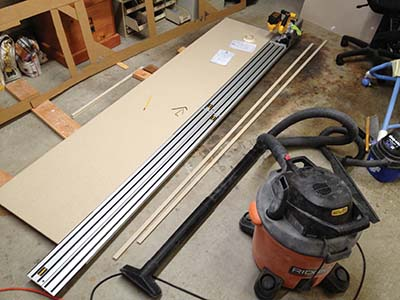 "Sheet material comes 30"" wide and countertops are generally 25"" wide leaving 5"" that can be used for edge strips."