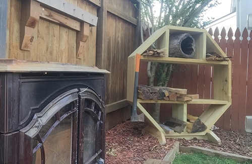 How To Make An Outdoor Firewood Organizer Extreme How To
