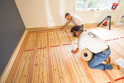Install A Heated Wood Floor Extreme How To