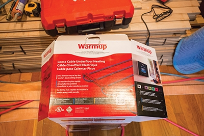 The Warmup kit includes all components needed for its Loose Cable Underfloor Heating.