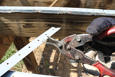 The channels can be cut to size with metal snips.