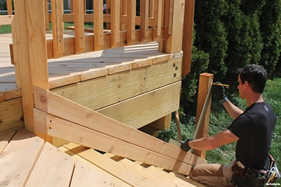 Stacked 2x4 and a framing square are your best friends for laying out a stair rail.