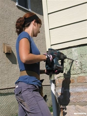 Simply put, a rotary hammer is an awesome concrete and masonry drilling tool that has other uses around a deck site was well.