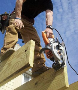 Worm-drives are a great deck-building tool. Their in-line body is great for cutting joists and other deck-specific cuts.