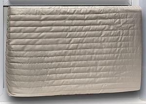 Covers for attic doors and window air conditioners can reduce drafts during winter.