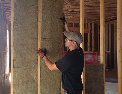 Dampen sound with stone wool extreme how to for Roxul stone wool insulation reviews