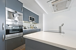 modern contemporary kitchen with built in appliances including c