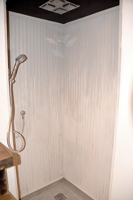 You Have A Number Of Water Resistant Finish Options For The Shower Panels.  The