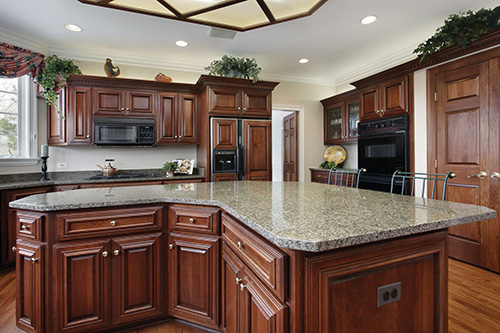 14976231 - kitchen in luxury home with large center island