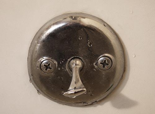 Overflow drain tub
