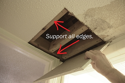 Patch A Popcorn Ceiling Extreme How To