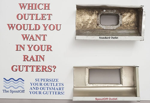 A Rain Gutter Outlet That Will Not Clog The Spoutoff