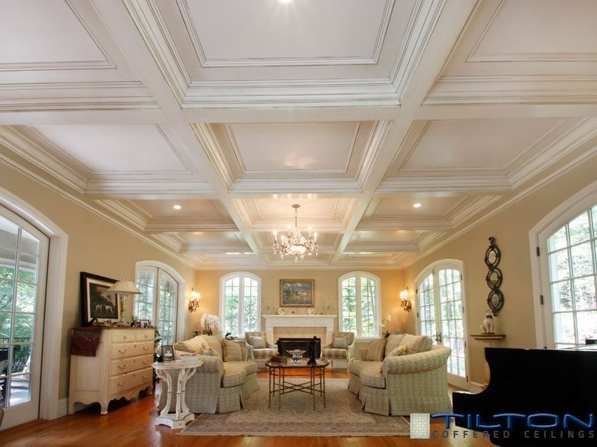 Coffered Ceilings Made Of Durable Polyurethane Extreme